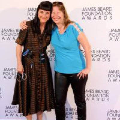 Beth Federici (on left) with America's First Food Producer, Kathleen Squires at the James Beard Awards 2013.